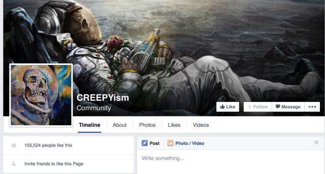 FB capture d`écran CREEPYism