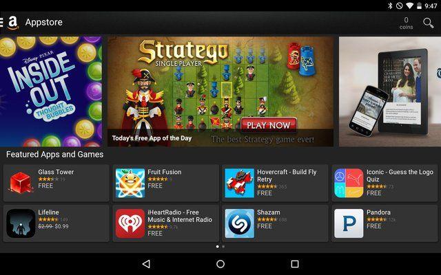 AndroidGooglePlay-Amazon Appstore;