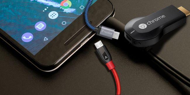 5 Câbles micro usb robustes et longues pour charger androides et d`autres dispositifs