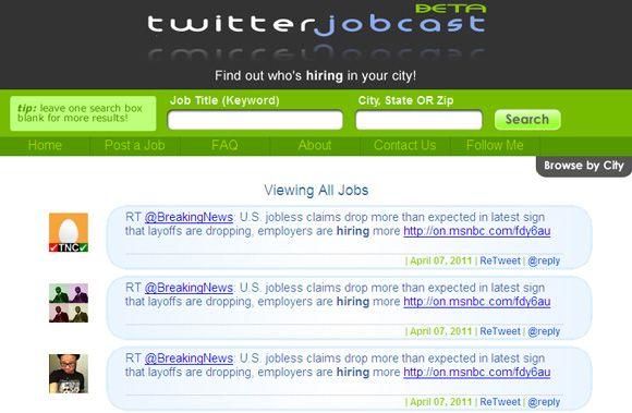 trouver un emploi sur twitter