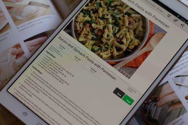 -Tablet-livre de cuisine créative android