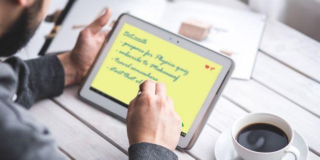 Un guide rapide et sale numérique parfaite prise de notes