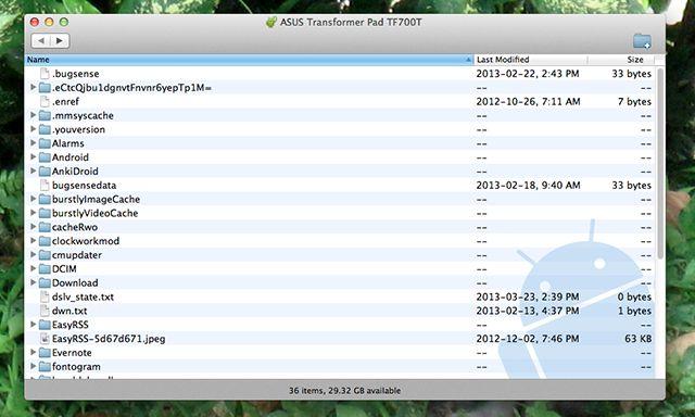 android-transfert de fichiers
