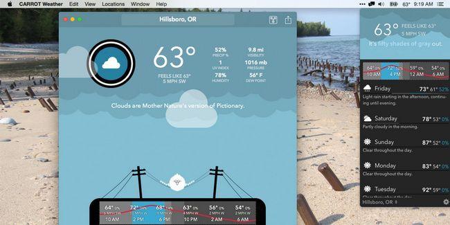 La carotte est votre robot météo personnelle snarky pour mac et iphone
