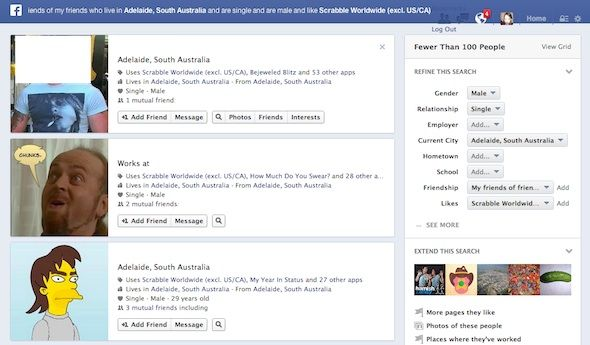 graph recherche facebook