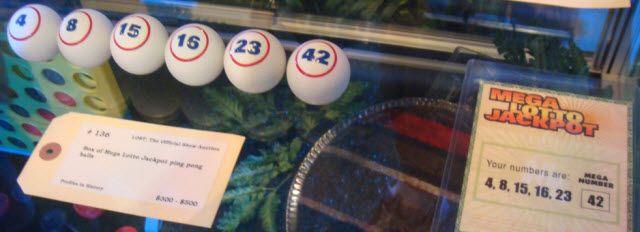 boules de loterie et les numéros de Lost