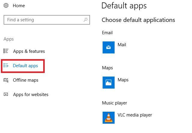 Windows 10 mise à jour des applications créateurs par défaut