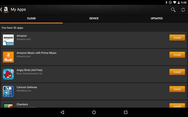 AndroidGooglePlay-Amazon Appstore-Apps;