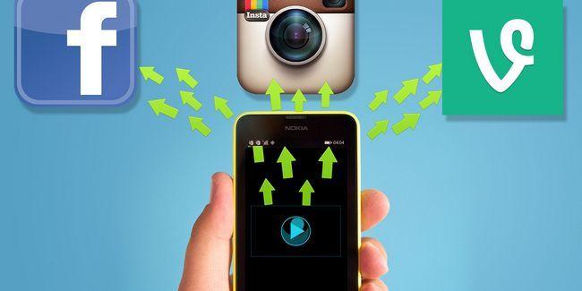 Facebook, instagram & upload vidéo vigne tranquillisai sur windows phone 8.1