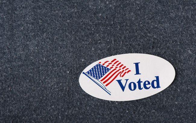 i voté autocollant