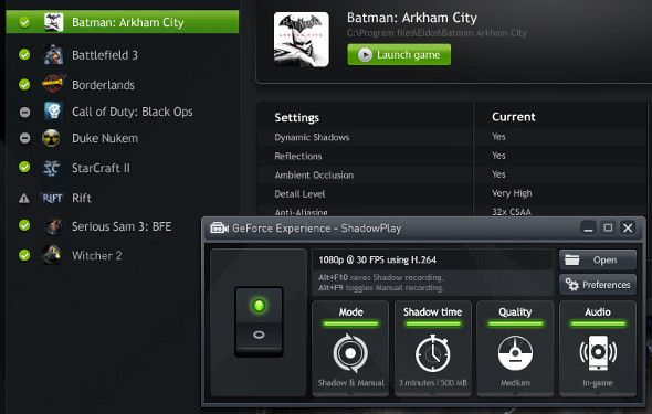 Shadowplay 4 Plus Carte vidéo Caractéristiques Chaque joueur doit savoir sur