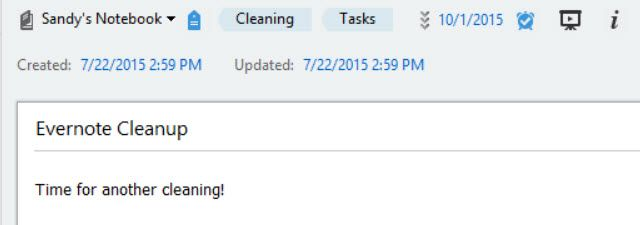 EvernoteCleaningNote