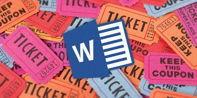 Comment obtenir un modèle de billet de tombola gratuit pour microsoft word