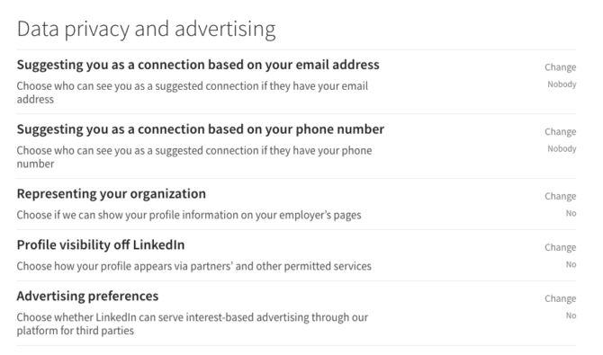 la confidentialité des données linkedin