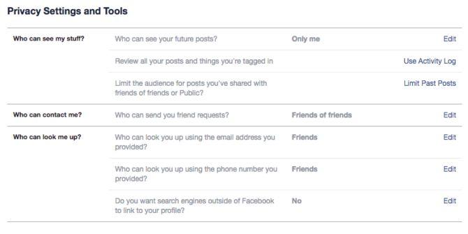 vie privée facebook