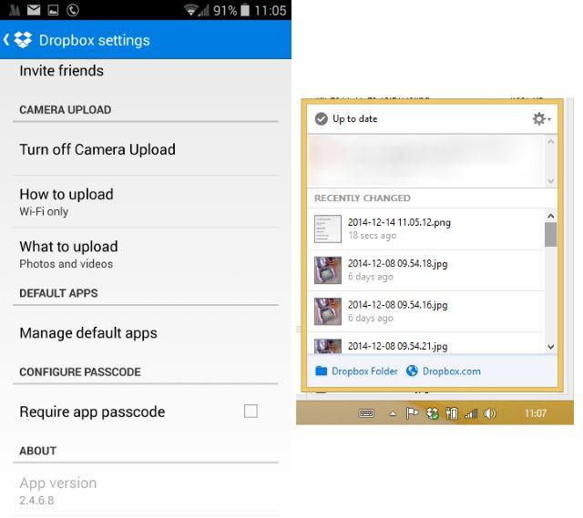 Muo-android-pc-partage de données-dropbox
