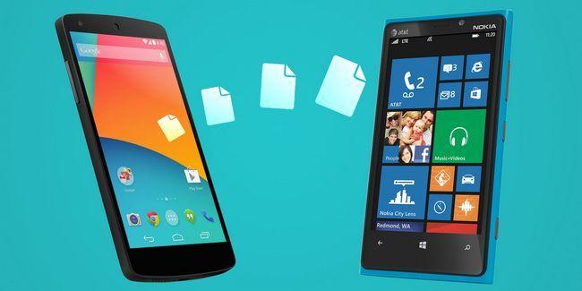 Comment transférer des données personnelles entre les fenêtres android et mobile