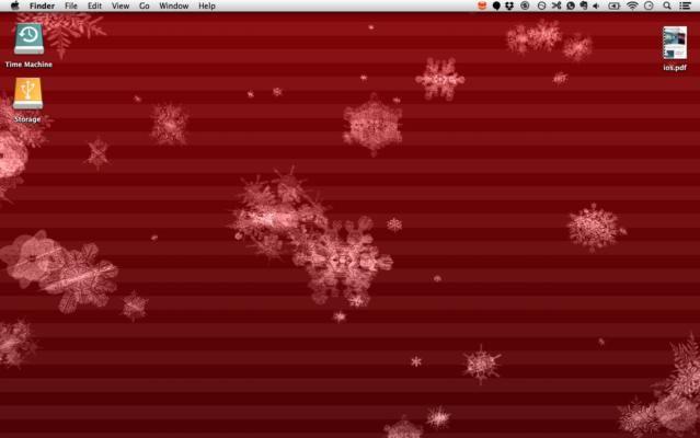 -Mac animation-desktop-flocons de neige
