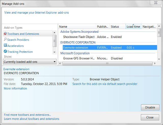 Internet Explorer-addons