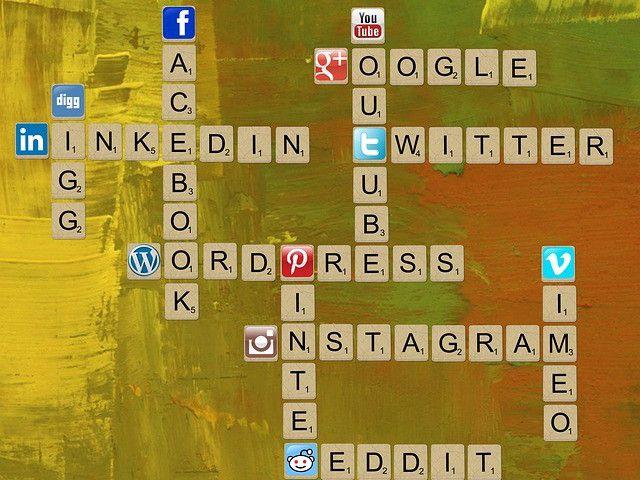 social-media-mots croisés