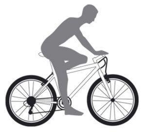 положение ребенка на детском велосипеде