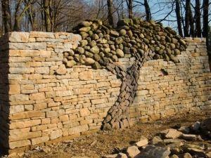 Дерево из камней для украшения стены