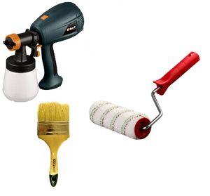 Выбор инструмента для окраски позволяет также сэкономить краску или наоборот повышает расход.