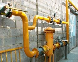 Газовый узел с байпасом