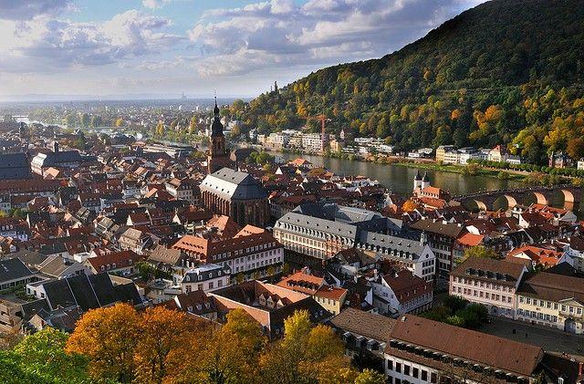 Город гейдельберг, германия