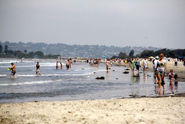Пляж коронадо бич в сан-диего, сша